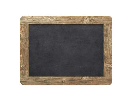 Blank old blackboard on a white background