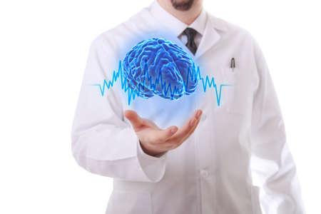 Très haute résolution de rendu 3D d'un cerveau humain Banque d'images - 26824138