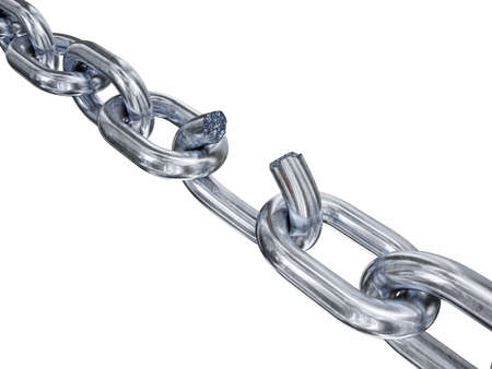 Very high resolution 3d rendering of a breaking chain Zdjęcie Seryjne