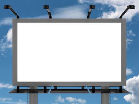 flysheet: Very high resolution 3d rendering of an advertising billboard Stock Photo