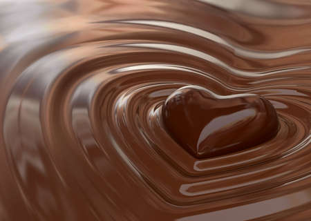 heart very: Very high resolution rendering of a chocolate heart Stock Photo