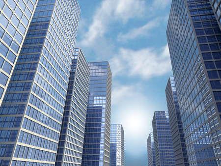 visualise: Very high resolution rendering of skyscrapers