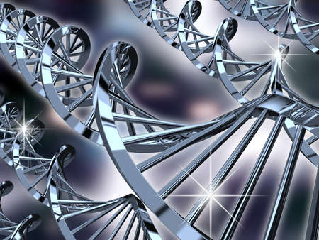 dna double helix: Computer generated DNA helix conceptual image