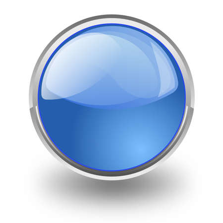 tridimensional: Blue button tridimensional symbol