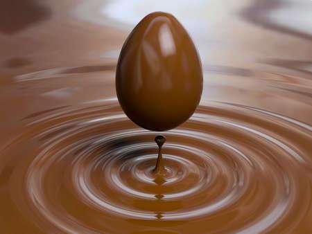 チョコレートの卵の非常に高い解像度のレンダリング