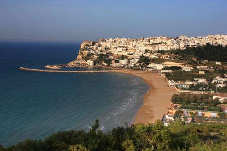 The city of Peschici on the italian coast