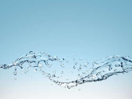 Computer gegenereerde abstracte achtergrond met water spatten