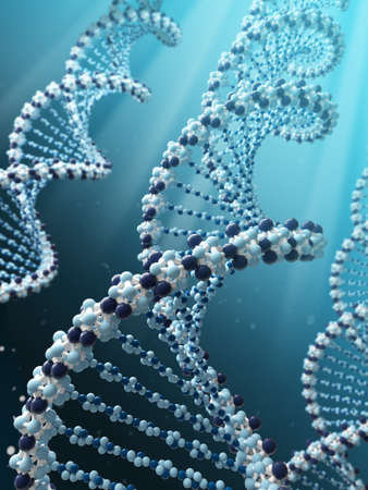 Very high resolution 3d rendering of a DNA spiral