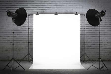 filmacion: Luces estroboscópicas profesionales que iluminan un telón de fondo