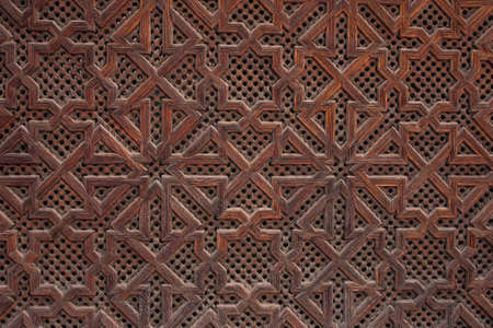 wood panel: Very high resolution texture of an islamic style Moroccan window