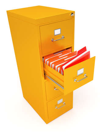 file box: Very high resolution rendering of a file cabinet