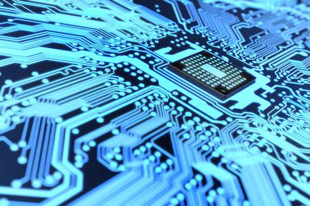 Très haute résolution de rendu d'un circuit électronique Banque d'images