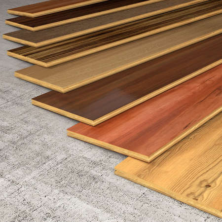 Different essences of hardwood planks for the floor