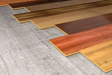 essences: Different essences of hardwood planks for the floor