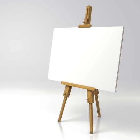 Wooden painter easel