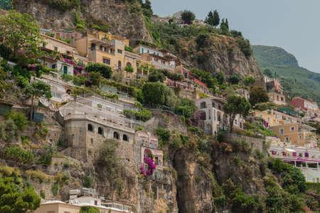 positano: The beautiful Positano on the italian Costiera Amalfitana Stock Photo