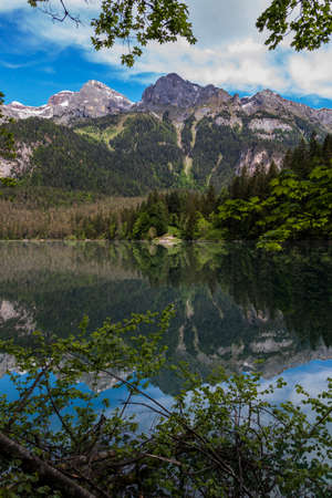 Beautiful Italian lake and alps in Trentino