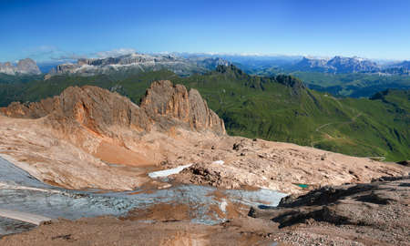Panoramic view from the top of the Italian alps Zdjęcie Seryjne