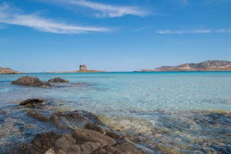 Landscape of a famous Sardinian beautiful beach Zdjęcie Seryjne