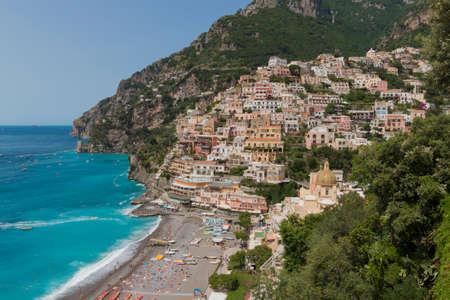 The beautiful Positano on the italian Costiera Amalfitana Zdjęcie Seryjne