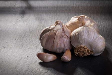 Garlic on ardesia