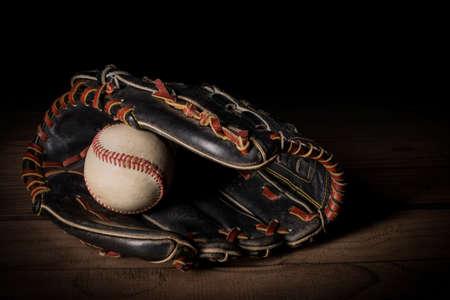 Baseball glove and ball Zdjęcie Seryjne