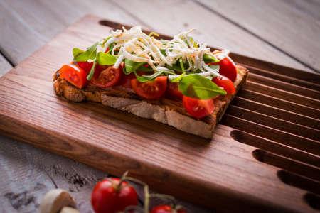 Tasty tomatoes bruschetta