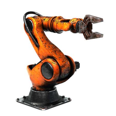 Aged Industrial robot Zdjęcie Seryjne