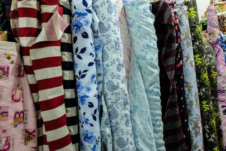 sheen: Fabric rolls Stock Photo
