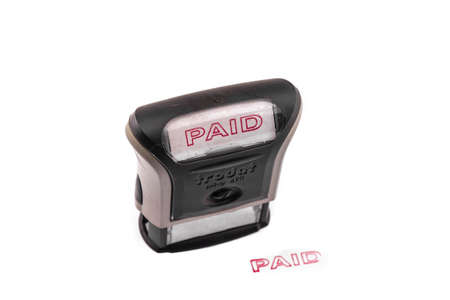 stamp of paid: Paid stamp
