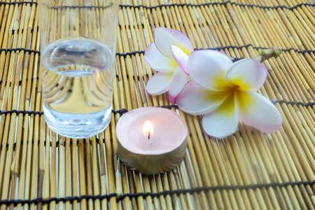 coconut oil: Concetto di Spa con olio di cocco
