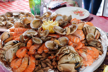 Seafood platter for party Stok Fotoğraf