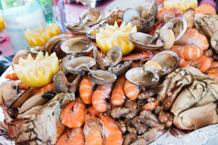 platter: Seafood platter for party Stock Photo