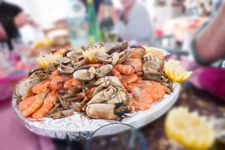 Seafood platter for party Stock Photo