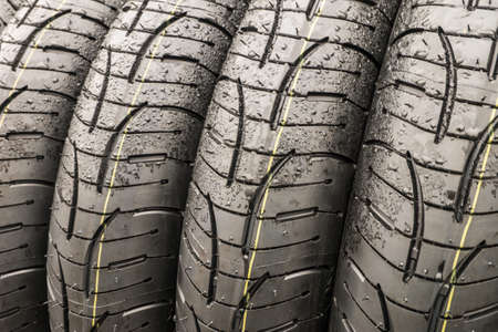 Stack of wet tire