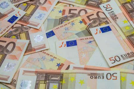 50 euro: 50 Euro bank notes.