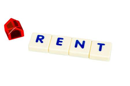 rent: Rent house concept Stock Photo