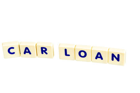 car loan: Car loan text with scrable Stock Photo