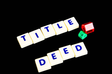 deeds: Title deed text  scrable