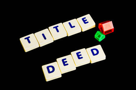 deed: Title deed text  scrable