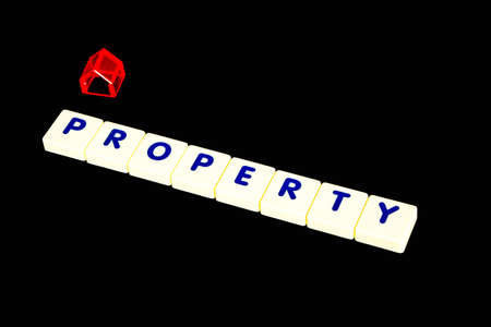 property management: property text Stock Photo