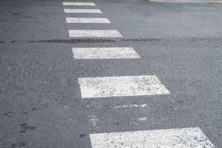 paso de cebra: Paso de peatones. Foto de archivo