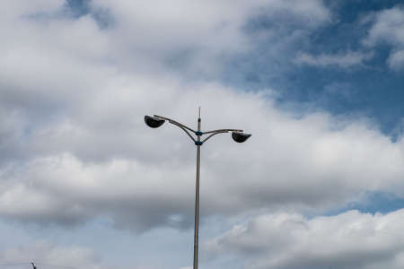 lamp on the pole: lamp pole with sky background