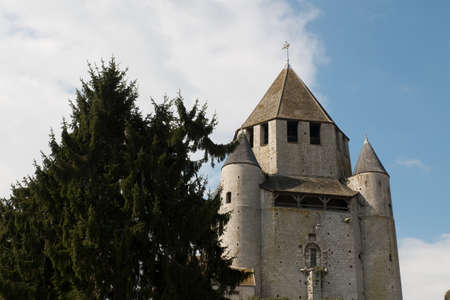 Provins, Caesar Tower. FRANCE - March 21,2015 - landmark and emblem of Provins. Provins - commune in Seine-et-Marne department, Ile-de-France region, north-central France. Editorial