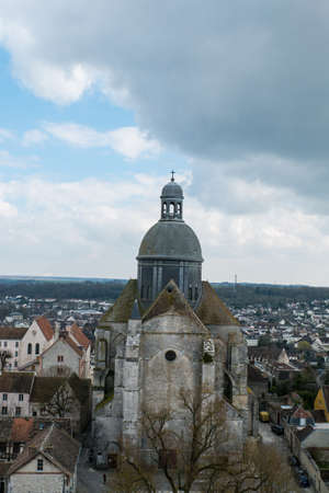 March 21,2015 -Saint-Quiriace Collegiate church in medieval town of Provins (Ile-de-France, France) . Medieval town of Provins is UNESCO World Heritage Site.