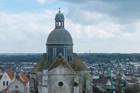 March 21,2015 -Saint-Quiriace Collegiate church in medieval town of Provins (Ile-de-France, France) . Medieval town of Provins is UNESCO World Heritage Site.