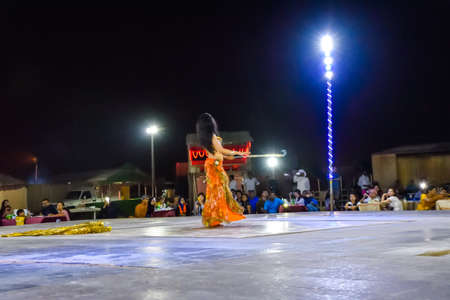 bailarinas arabes: Dubai, United Arab Emirates -November 6, 2015: beautiful belly dancer performing a Belly Dance.