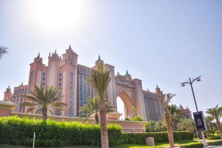 Dubai, United Arab Emirates -November 5, 2015: Atlantis hotel  in Dubai, UAE. Atlantis the Palm is a luxury 5 star hotel built on an artificial island Stok Fotoğraf - 80846764