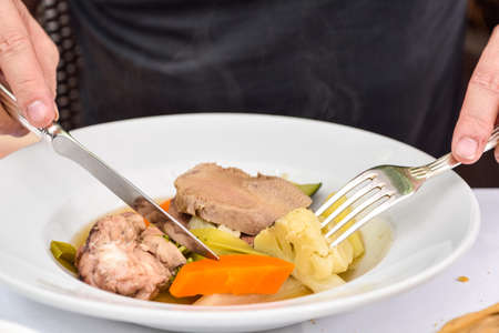 Boiled Cows Head,Tête de veau -French food