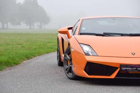 September 11,2015: Lamborghini Gallardo at le Circuit de Lohéac,France. Editorial